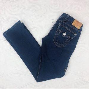 True Religion BILLY Straight Leg Blue Jean 26 x 28